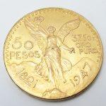 荒尾市のお客様よりK21.6 メキシコ コイン金貨を買取