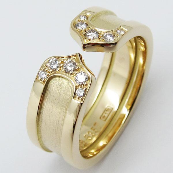 荒尾市のお客様よりカルティエ K18 ダイヤ入り 指輪 ロゴリングを買取