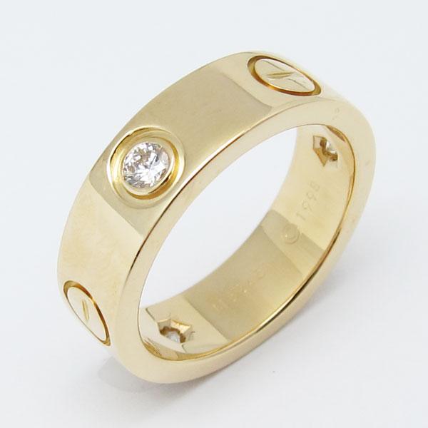 人吉市のお客様よりカルティエ K18 ダイヤ入り 指輪 ラブウェディングリングを買取