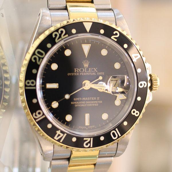 八代市のお客様よりロレックスの時計 GMTマスターⅡ 16713を買取